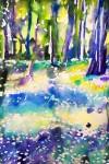 Kinnekulle ramson 2: watercolor on paper, 25,4x17,8 cm - SOLD