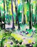 Kinnekulle ramson 4: watercolor on paper, 25,4x17,8 cm - SOLD