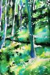 Kinnekulle ramson 6: watercolor on paper, 25,4x17,8 cm - SOLD
