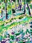 Kinnekulle ramson 7: watercolor on paper, 25,4x17,8 cm - SOLD