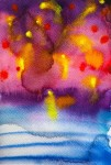 Fireworks 2: watercolor on paper, 25,4x17,8 cm - SOLD
