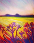 Imaginary landscape: soft pastels on paper - Price upon request