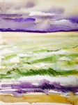Falsterbo ocean: Water colour and soft pastels on paper - Price upon request