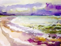 Falsterbo beach: Water colour and soft pastels on paper - Price upon request