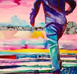 Into the sunset: A3, mixed media on paper - Price upon request