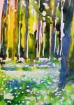 Spring forrest/Vårskog: 25,4x17,8 cm, Watercolor on paper - price upon request