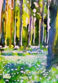 Spring forrest/Vårskog: 25,4x17,8 cm, Watercolor on paper - price upon request