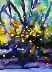 Glow (fire flies) 25,4x17,8 cm, Watercolor on paper -price upon request