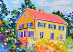 Yellow house: 50x70, oil on canvas - SOLD