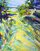 On the way to the beach: 80x100 cm, oil on canvas - Price upon request