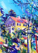 Spooky house: 50x70 cm, oil on canvas - SOLD