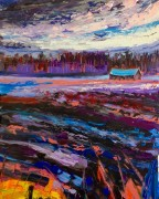 Colder and darker: 50x70 cm, oil on canvas - SOLD