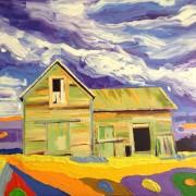 Wild sky: 80x80 cm, oil on canvas - Price upon request