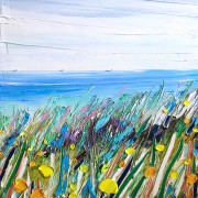 Small imaginary beach grass: 40x40 cm, oil on canvas - SOLD