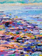 Pretty beach!...but it's littred! 60x80 cm, oil on canvas, price upon request