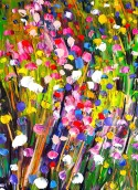 Floral delight: 60x80 cm, oil on canvas - price upon request