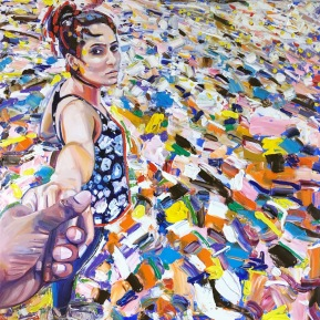 It's all plastic: 100x100 cm, oil, 2018, Anna Afzelius-Alm - price upon request