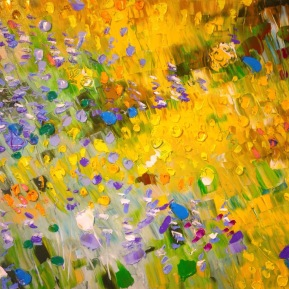 Yellow flower field: 50x70 cm, oil, 2017, Anna Afzelius-Alm - SOLD