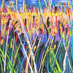 Imaginary reed - In it: 80x120 cm, oil on canvas - price upon request