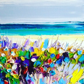 Beach bush: 30x30 cm, oil on canvas - SOLD
