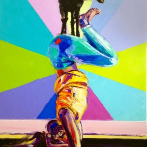 Yoga goat: 60x80 cm, oil on canvas - SOLD