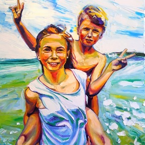 Leila and Luna: 80x120 cm, oil in canvas - SOLD