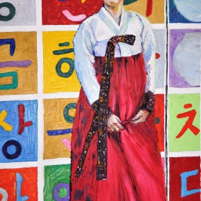Korean pavillion, SH world expo: oil on canvas, 80x120cm, sold