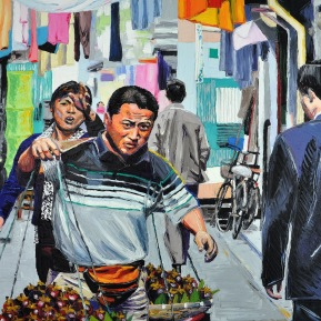 Yuyuan moment: 120x80cm, oil on canvas, sold