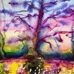 The Oak/Eken: 25,4x17,8 cm, Watercolor on paper - SOLD