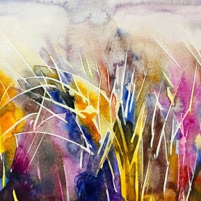 Beach grass 2: 25,4x17,8 cm, watercolor on paper - price upon request
