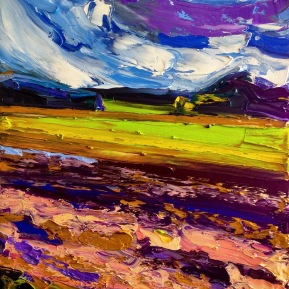 Windy fields: 50x70 cm, oil on canvas