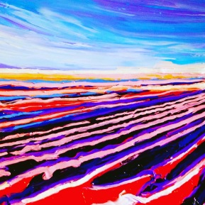 Red field: 70x80 cm, oil on canvas - Price upon request