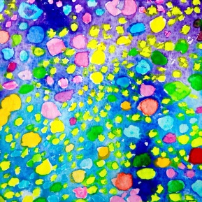 Bubbles: 11.5x16.8 cm, water colour on paper - SOLD