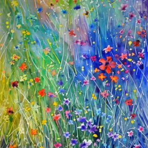 Meadow sparkle: 56 x76 cm, 2019 - SOLD