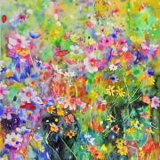 Original watercolor - Flower Universe