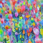 Original Watercolor - Tulip Heaven #2
