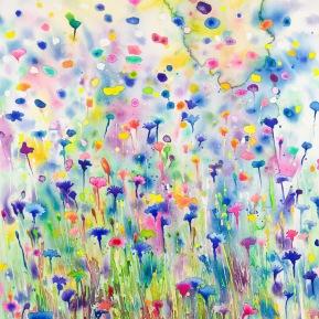 Rainbow Meadow_56x76 cm_akvarell_2019_Anna Afzelius-Alm