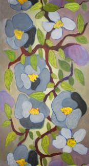 Flowery - Blå Flowery 01
