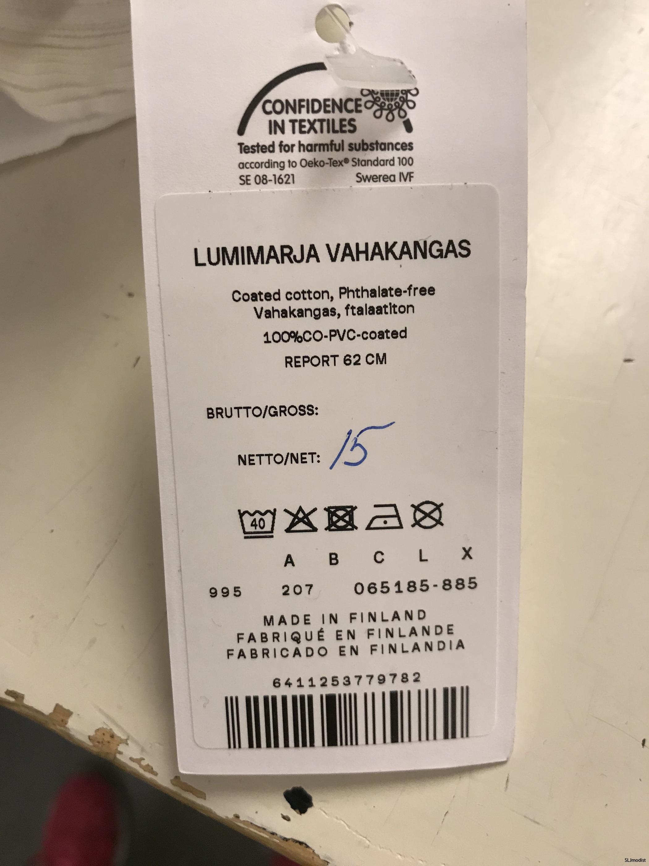 Skötselråd för Marimekkos vaxdukar