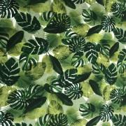 Trikå Gröna blad (pris per decimeter)