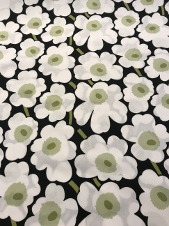 Mini-Unikko Svart vit grön - Mini-Unikko Svart grön vit