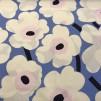 Pieni Unikko 2 Blå rosa vit (pris per decimeter) - Pieni-Unikko Vit, blå rosa