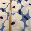 Pieni Unikko 2 Blå rosa vit (pris per decimeter)