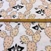 Peekaboo Raccoon Coral/Peach (pris per decimeter)
