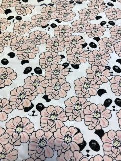 Peekaboo Panda Pink (pris per decimeter) - Peekaboo Panda Pink