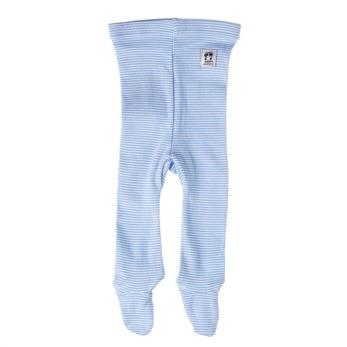 Ljusblå byxa m. fot, Pippi - Byxa m. fot strl. 50 newborn