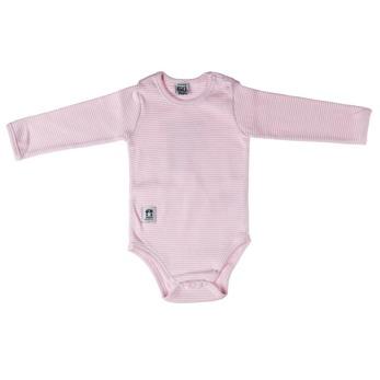 Långärmad ribbad body, Pippi - Långärmad rosa strl. 70
