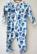 Pyjamas Fixoni strl. 74 - Vit/blå strl. 74