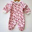 Pyjamas Fixoni strl. 56 - Vit/rosa strl. 56