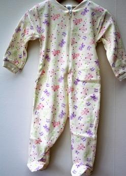 Pyjamas Fixoni strl. 74 - Vit/lila strl. 74